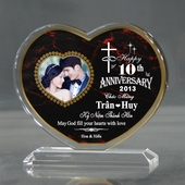 Personalized Heart Anniversary Acrylic
