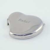 Personalized Heart Compact Mirror