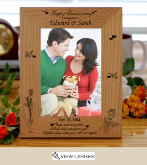 Personalized 'In Love with You' Anniversary Photo Frame