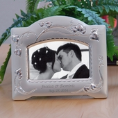 Personalized Leaf & Vine Design Silver Photo Frame