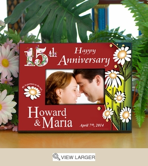 Personalized Lilies Anniversary Frame
