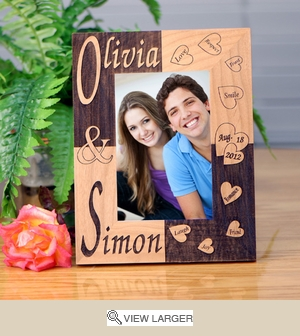 Personalized Love Hearts Photo Frame