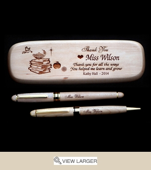Personalized Maplewood 'Thanks' Teacher Pen set