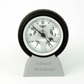 Personalized Mini Tire Alarm Clock