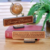 Personalized Office Wooden Etching Name Plate