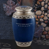 Personalized Pewter Atlantic Blue Urn
