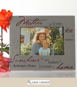 Personalized Pewter Frame for Mom