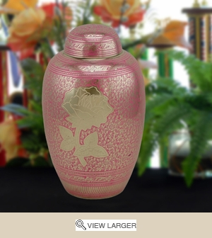 Personalized Pink Rose Urn