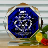 Personalized Polygonal Anniversary Acrylic