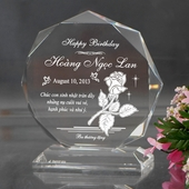 Personalized Polygonal Birthday Acrylic
