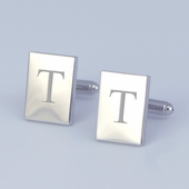 Personalized Rectangle Cuff Links