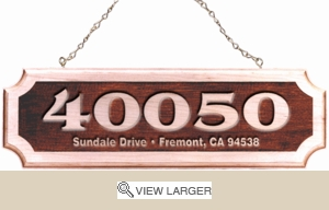 Personalized Red Alder Wood Address Plaque
