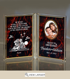 Personalized Red 'Anniversary Love' Dual Frame Keepsake