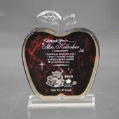 Personalized Red Apple Teacher Keepsake