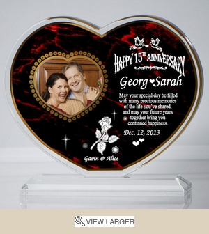 Personalized Red 'Everlasting' Heart Keepsake