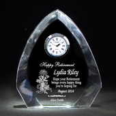 Personalized Retirement Crystal Arch Clock