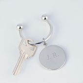 Personalized Round Silver Keychain