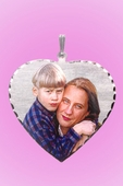 Personalized Silver Photo Pendant