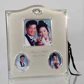 Personalized Silver Wedding Ring Photo Album
