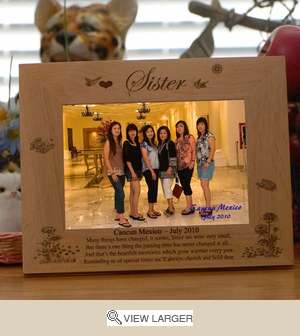 Personalized �Sister Memories� Picture Frame