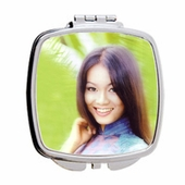Personalized Square Mirror Compact