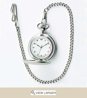 Personalized Stainless Steel Pocket Watch
