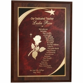 Personalized Star Teacher Plaque