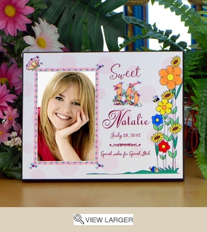 Personalized Sweet 16 Birthday Picture Frame