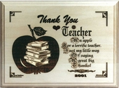 Personalized Teacher Appreciation Wood Plaque