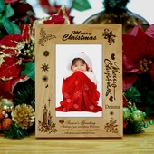 Personalized 'Thinking of You' Wood Christmas Photo Frame