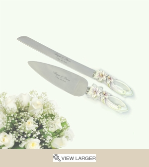Personalized Tiger Lily Serving Set