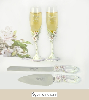 Personalized Tiger Lily Wedding Set