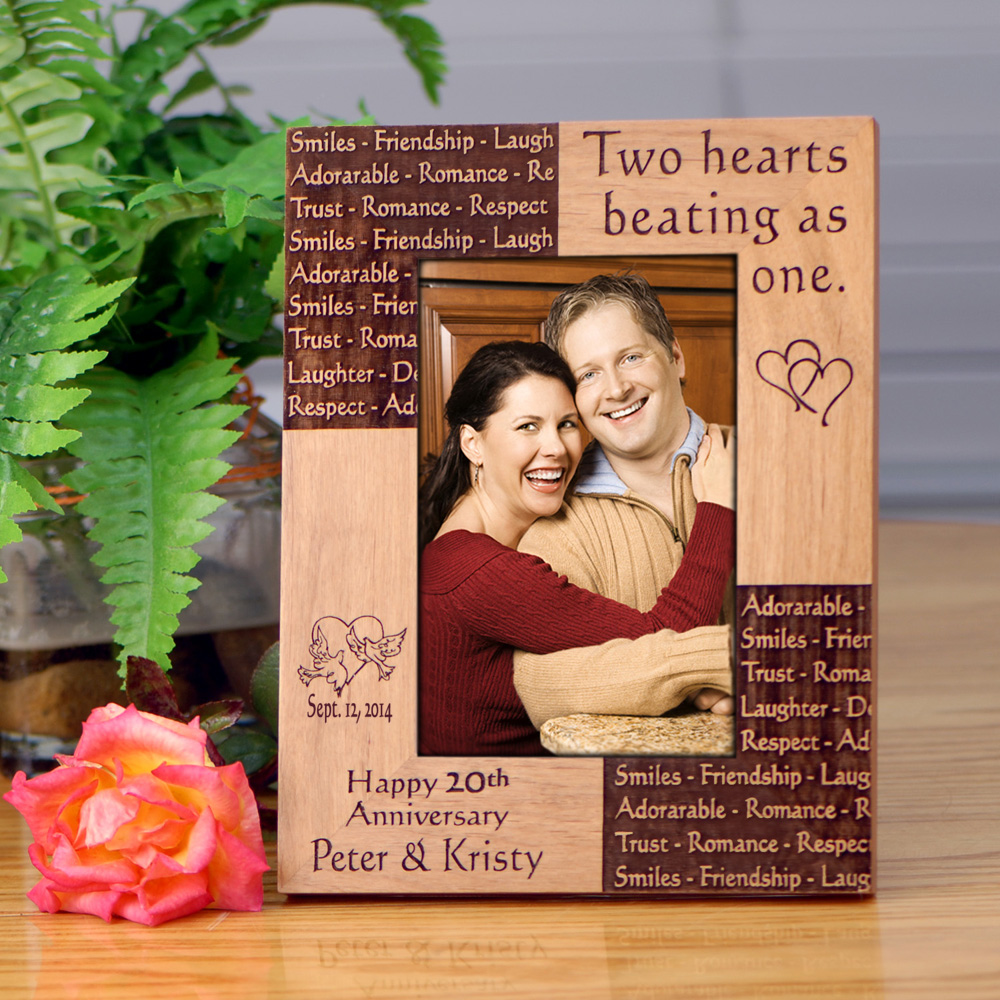 Personalized \'Two Hearts as One\' Anniversary Photo Frame ...