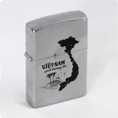 Personalized Vietnam Silhouette Zippo Lighter
