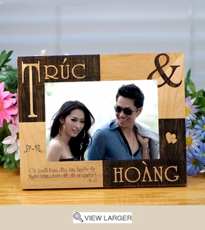 Personalized  Vietnamese Couple Frame