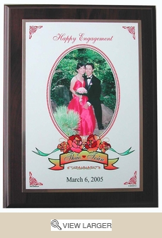 Personalized White Brass Engagement Plaque