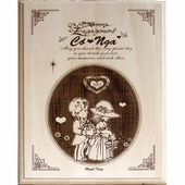 Personalized Wood Engagement Plaque