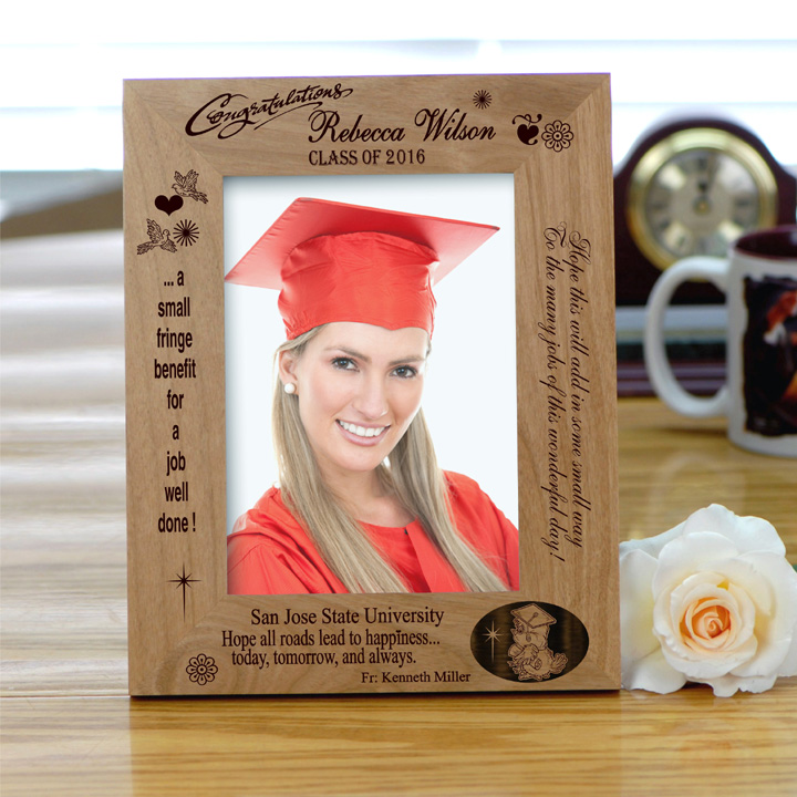 Personalized Wood Graduation Hope Frame - Picture Frames