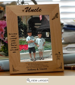 Personalized Wood Picture Frame for Uncle