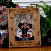 "Personalized ""World's Best Mom"" Picture Frame"