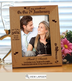 Personalized 'You Are My Heart' Anniversary Photo Frame