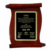 Scroll Plaque