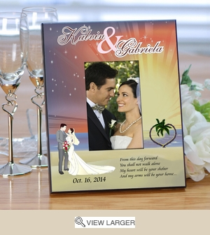 Starry Night Wedding Personalized Picture Frame