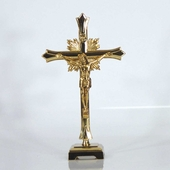 Table Top Gold Fleurie Crucifix