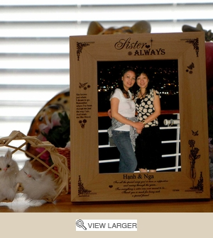 Unique Picture Frame for Sister-Hold 4