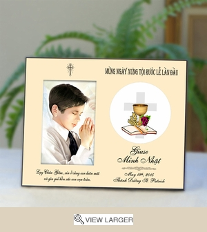 Vietnamese Personalized Communion Photo Frame