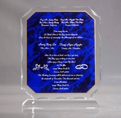 Wedding Invitation on Acrylic Plaque