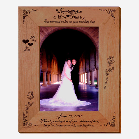 Wedding Wishes Personalized Photo Frame - Picture Frames