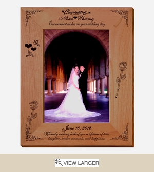 Wedding Wishes Personalized Photo Frame