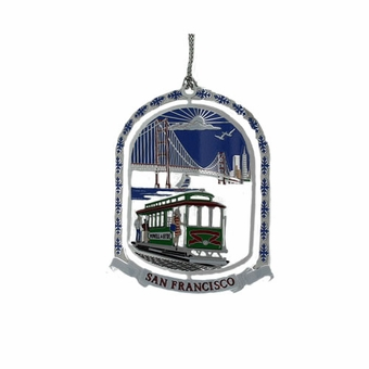 Cable Car 3D Colorful Ornament